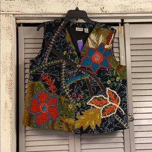 Chico's embroidered vest